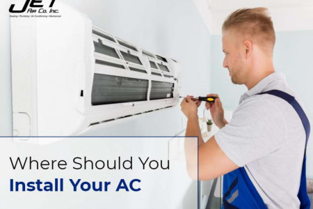 Where should you install your ac Infographic