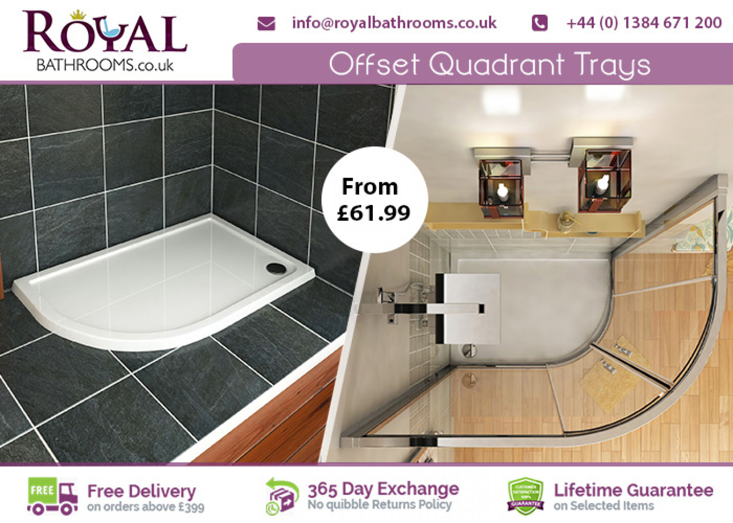 Where to buy Offset Quadrant Shower Trays in UK Infographic