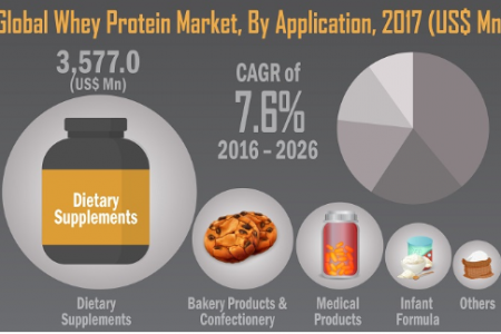 Whey Protein Market Projected to Discern Stable Expansion During 2017-2026 Infographic