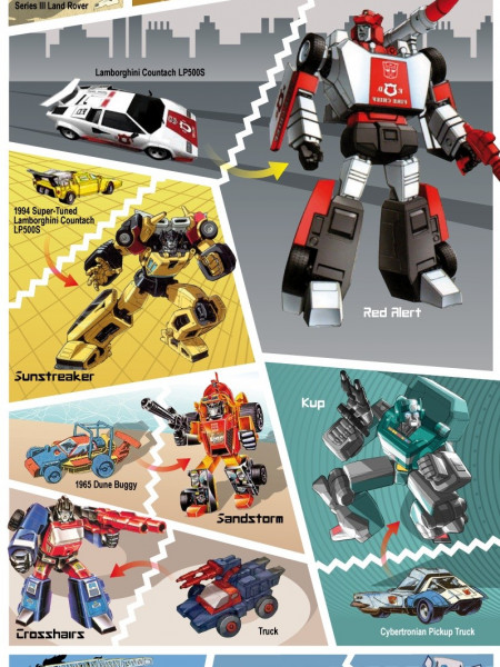 Which Cars were the Original Transformers: Autobots? Infographic