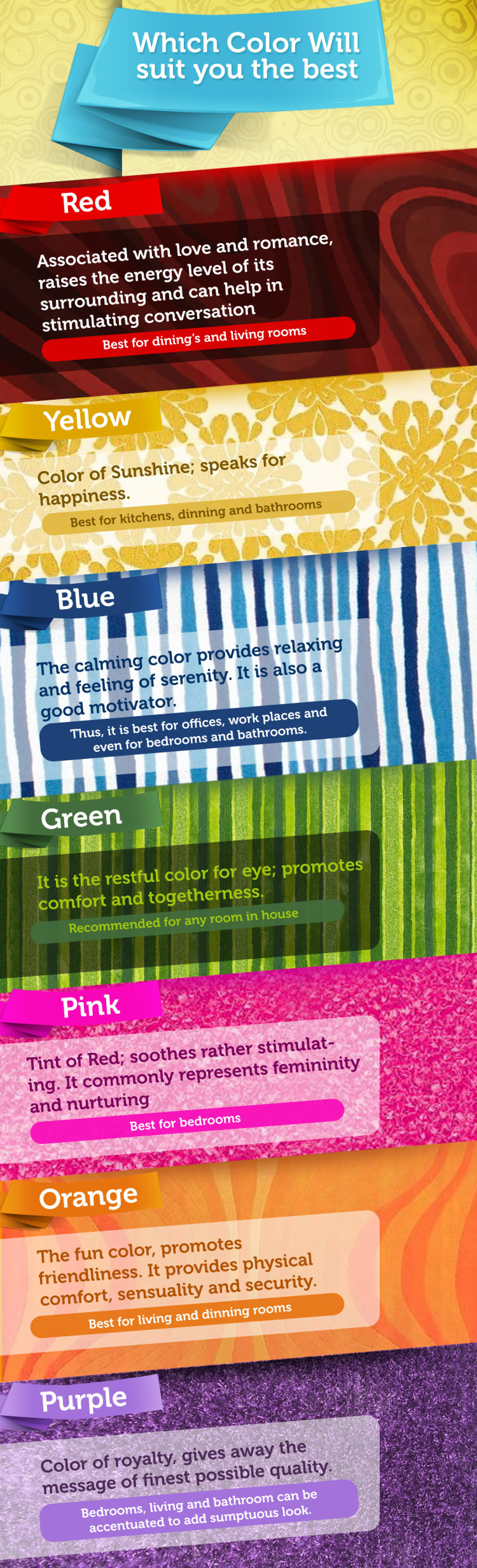 Which color will suit you the best Infographic