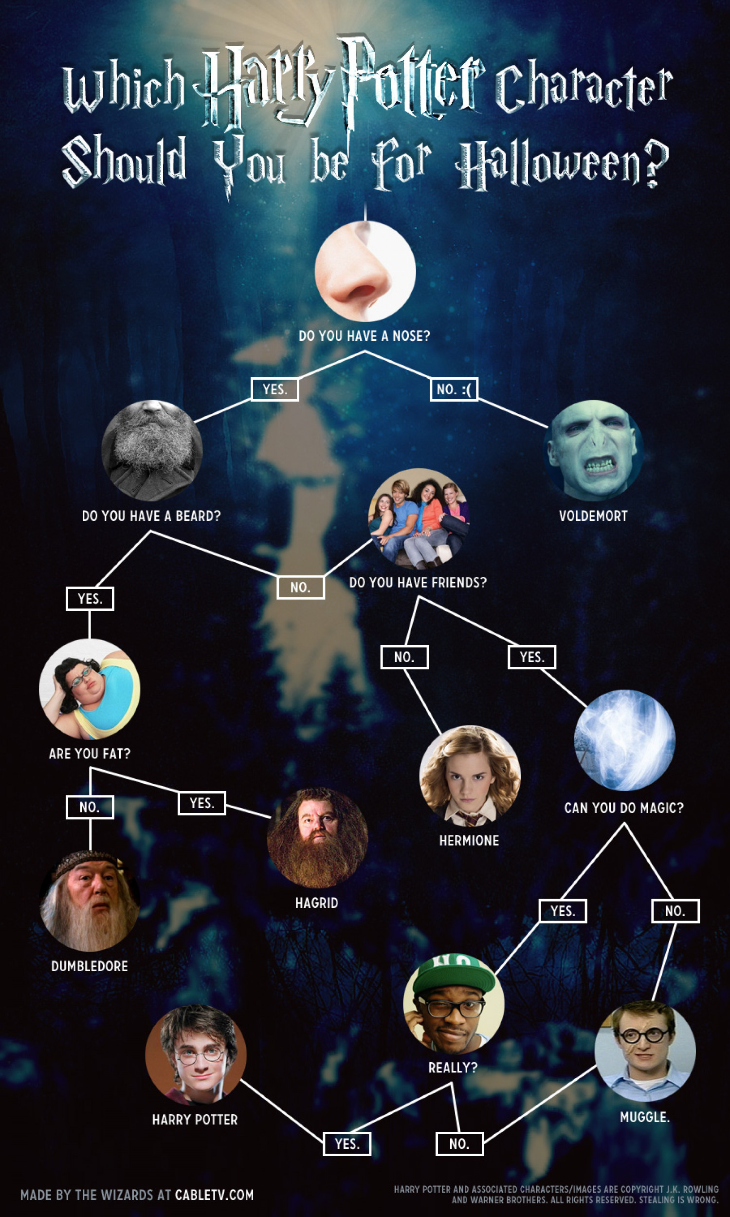 Which Harry Potter Character Should You Be for Halloween? Infographic