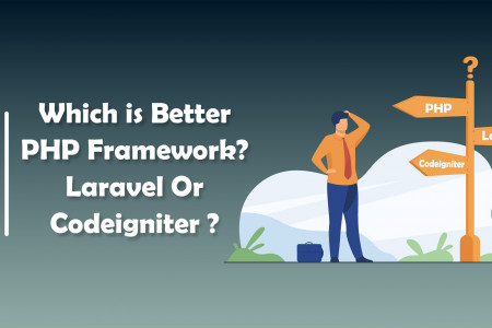 Which is Better PHP Framework? Laravel Or Codeigniter ? | CandidRoot Solutions Infographic