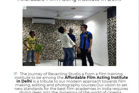 Which is the most affordable film acting institute in Delhi Infographic