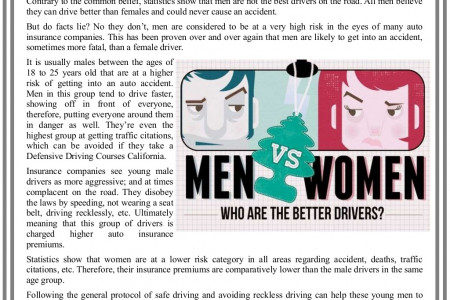 Who Is The Better Driver Men or Women? Infographic