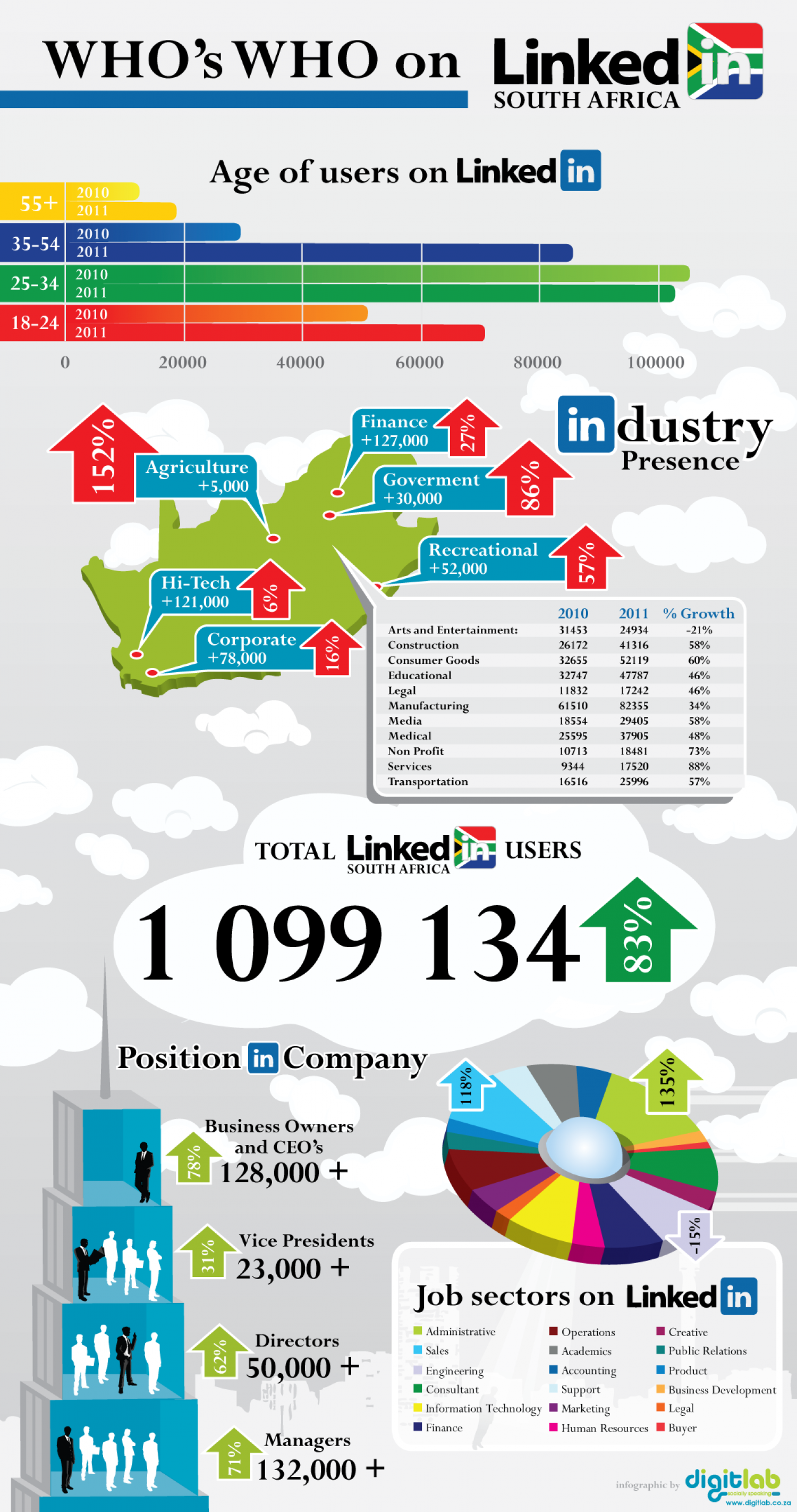 Who's Who on Linkedin in South Africa Infographic