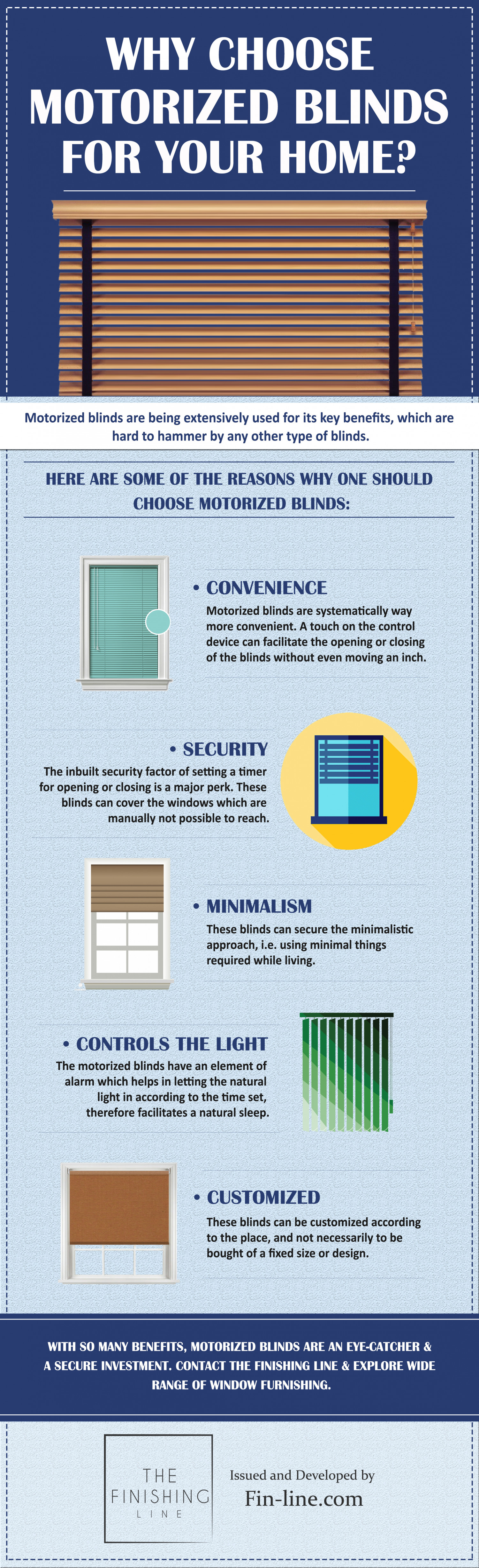 Why Choose Motorized Blinds for your Home? Infographic
