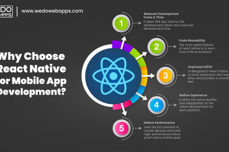 Why Choose React Native for Mobile App Development? Infographic