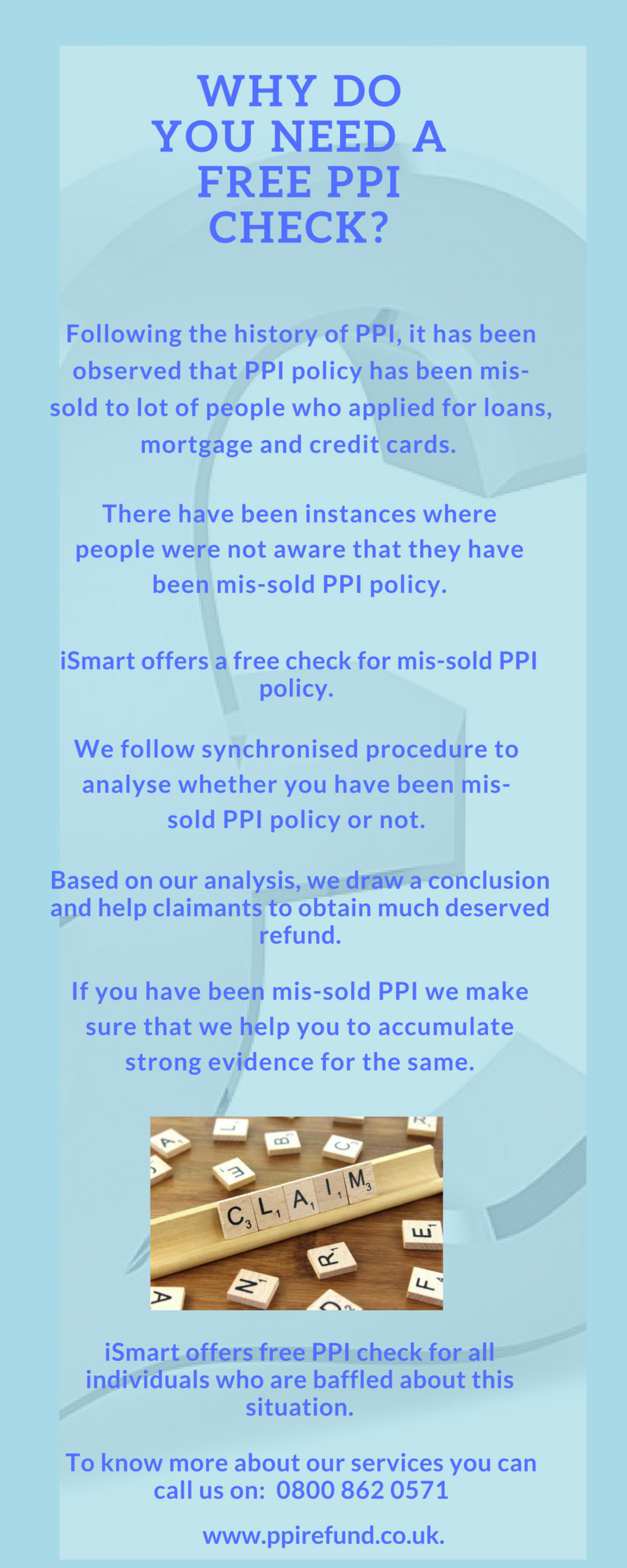 Why Do You Need A Free PPI Check? Infographic