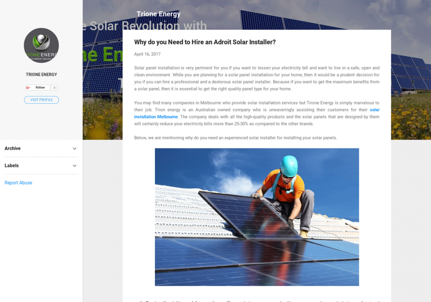 Why do you Need to Hire an Adroit Solar Installer? Infographic