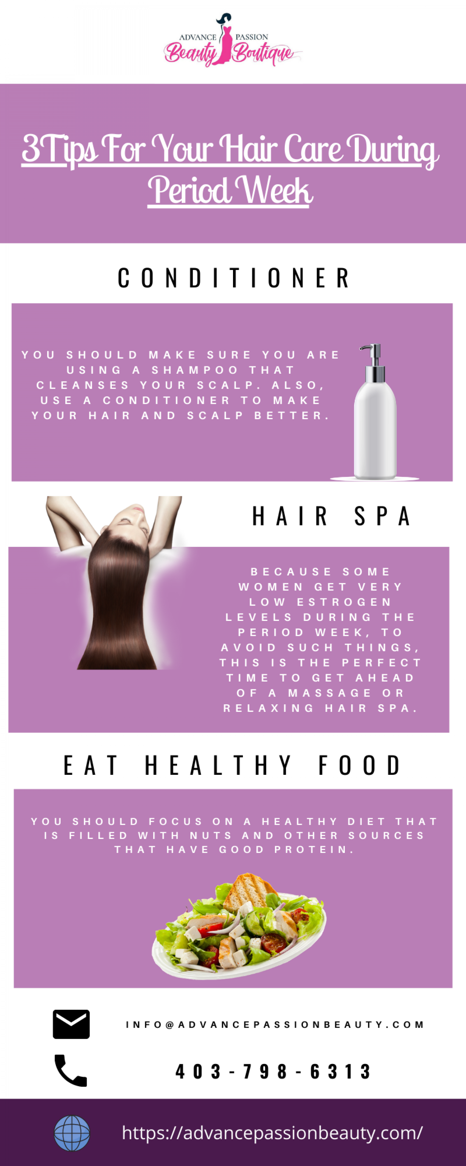 Why Hair Care Is Important During Period Week. Infographic