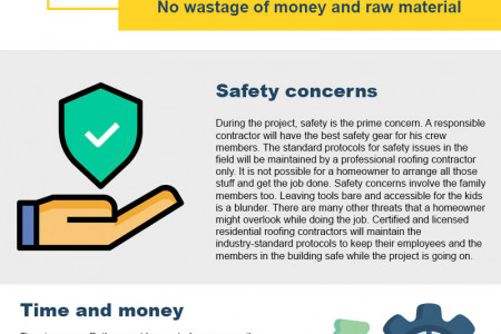 WHY HIRE A ROOFING CONTRACTOR RATHER THAN REDOING IT YOURSELF? - INFOGRAPHIC Infographic