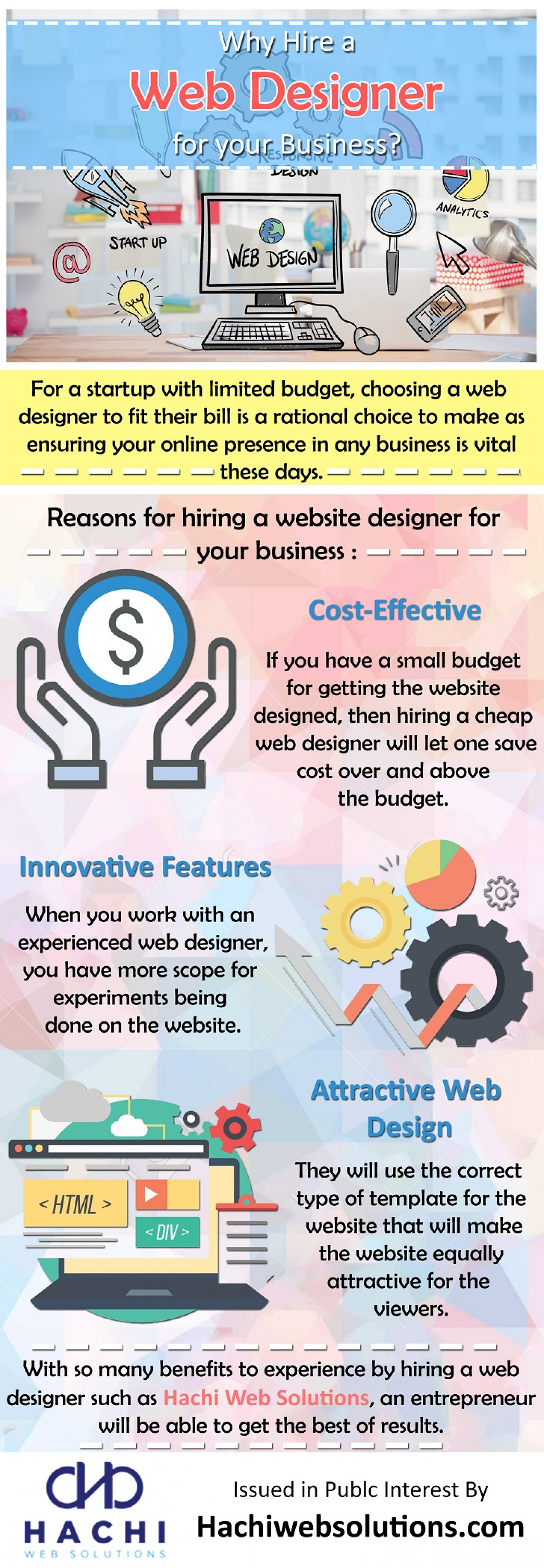 Why Hire a Web Designer for your Business? Infographic
