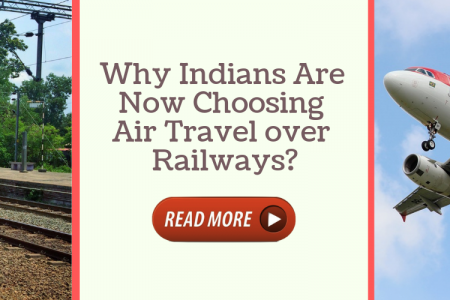 Why Indians Are Now Choosing Air Travel over Railways? Infographic
