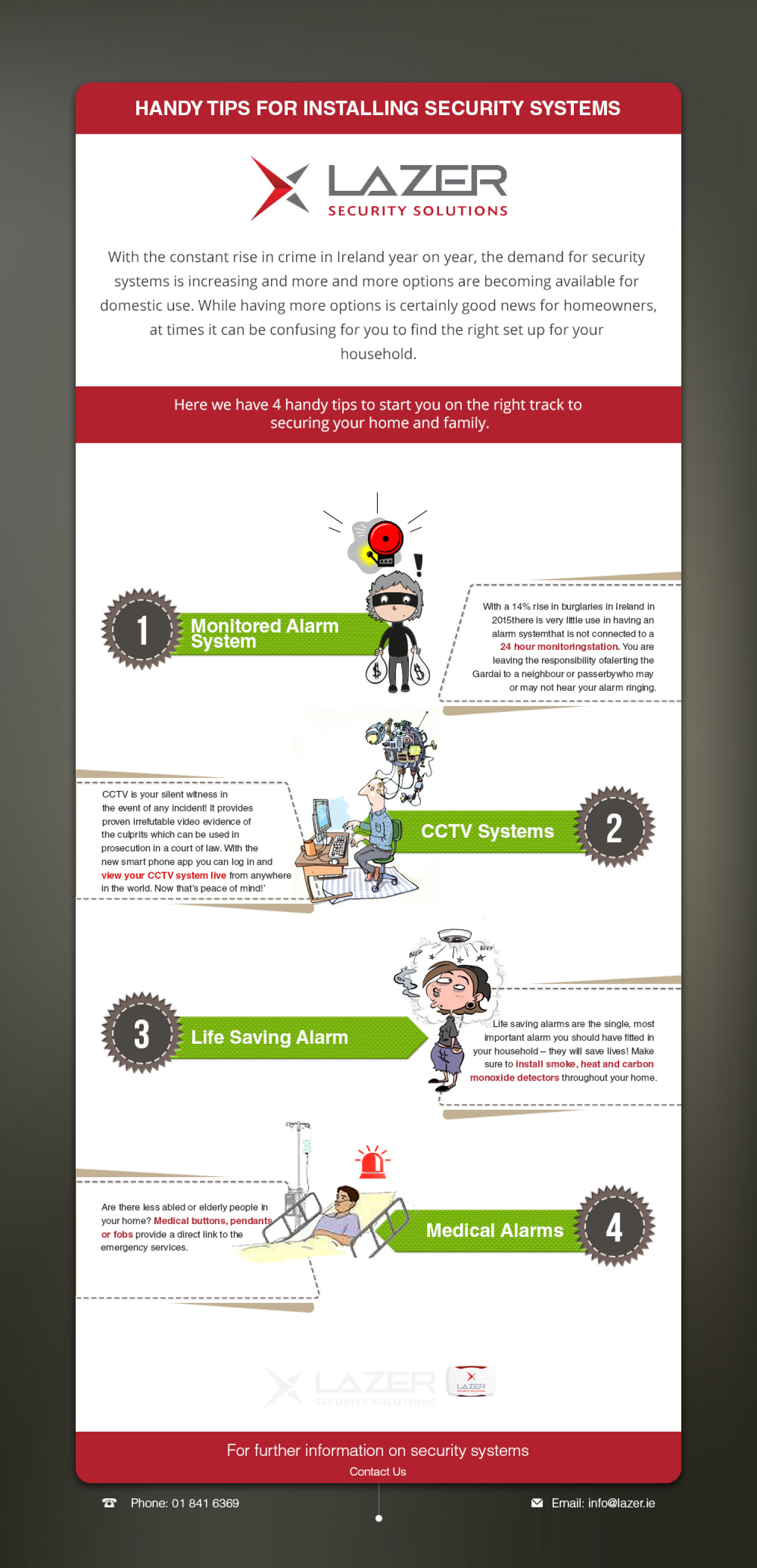 Why Install a Home Security System ? Infographic