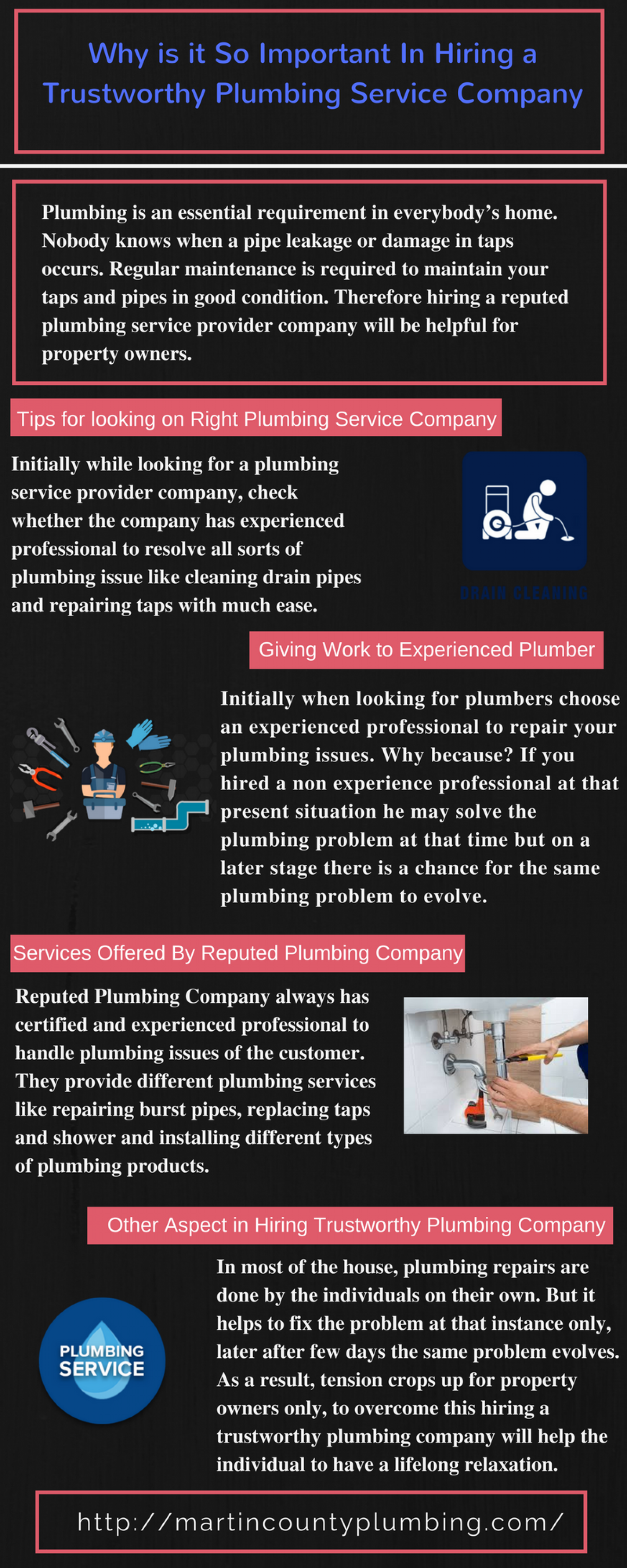 Why is it So Important In Hiring a Trustworthy Plumbing Service Company?