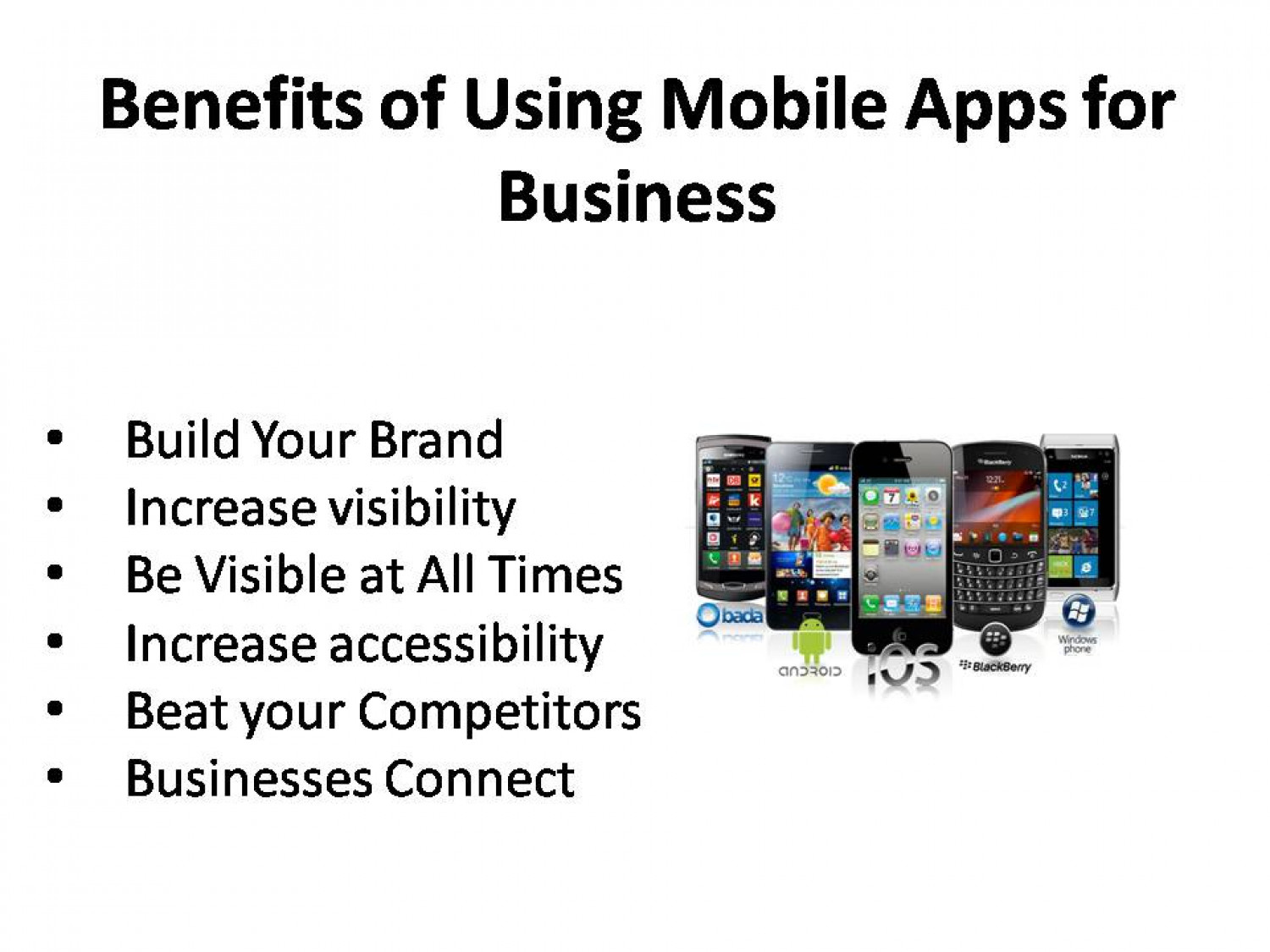 Why Mobile App Is Important For Your Business Infographic