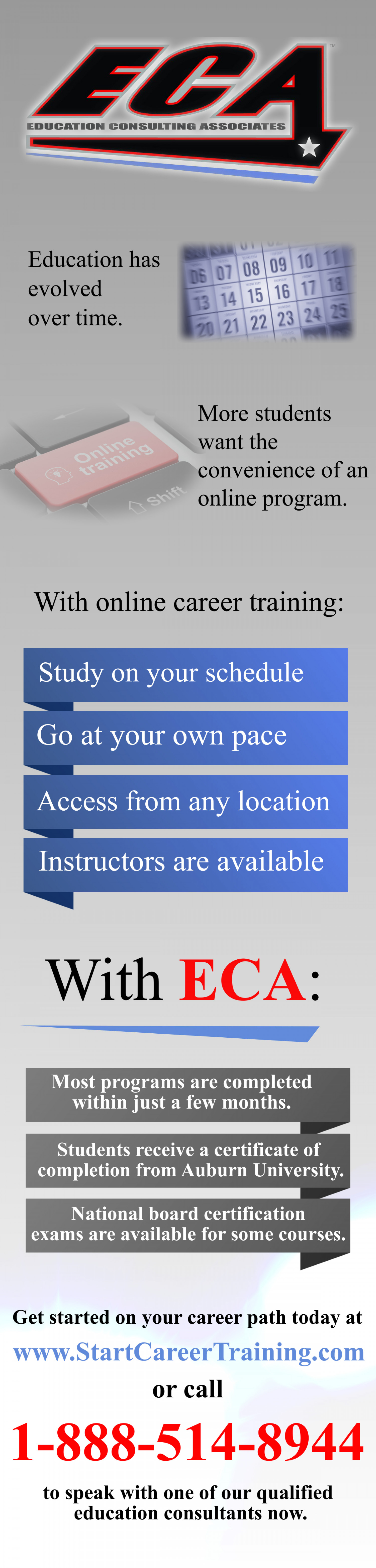 Why Online Career Training? Infographic