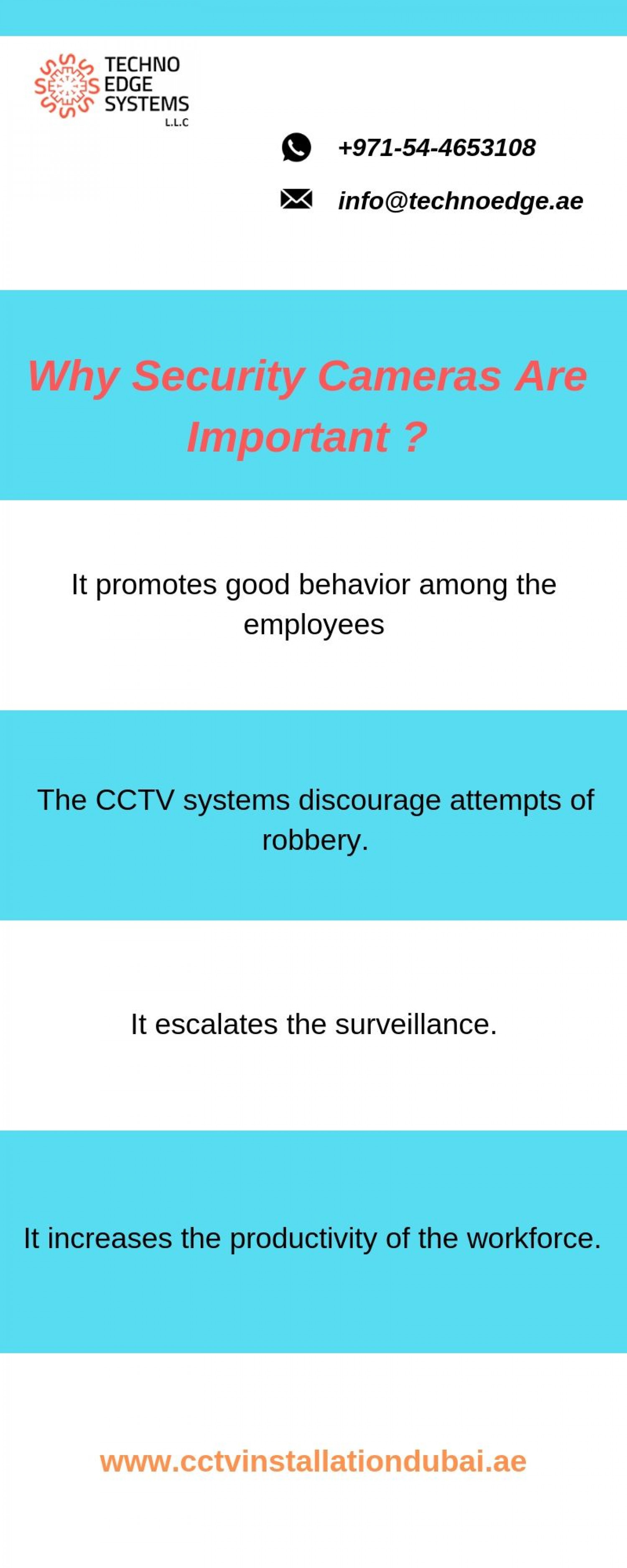 Why Security Cameras Are Important ? Infographic
