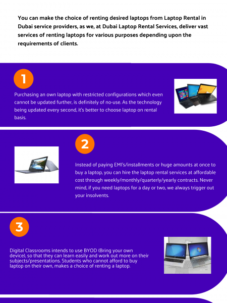 Why Should you Choose Laptop Rental Services in Dubai? Infographic