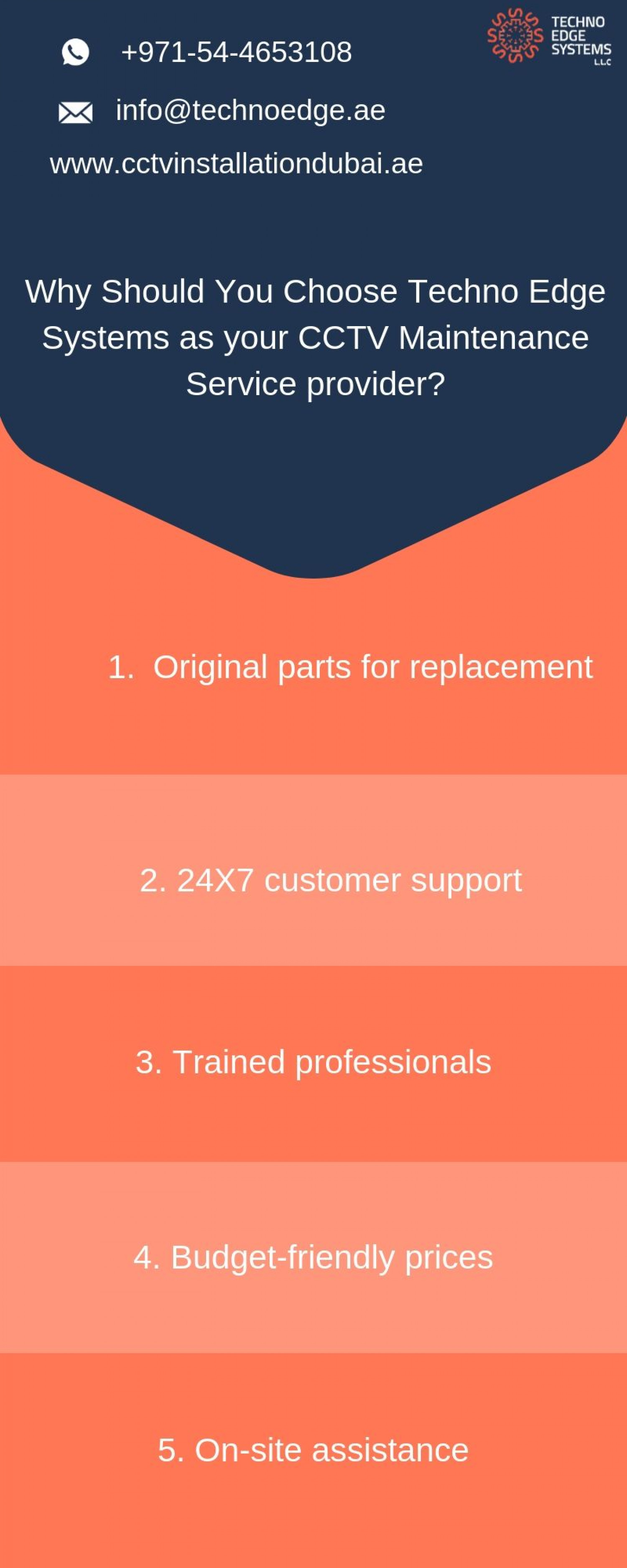Why Should You Choose Techno Edge Systems as your CCTV Maintenance Service provider? Infographic