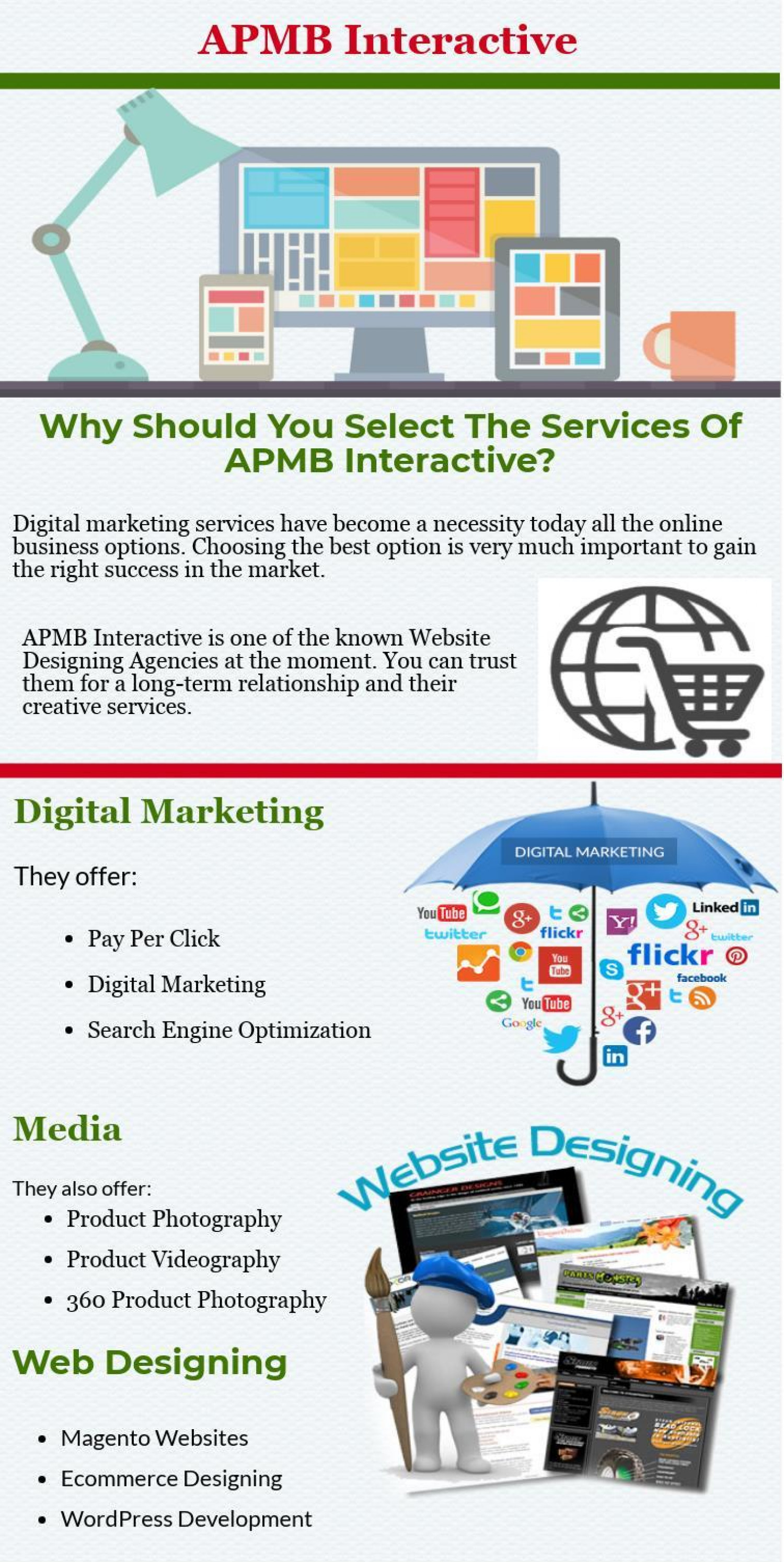 Why Should You Select The Services Of APMB Interactive? Infographic
