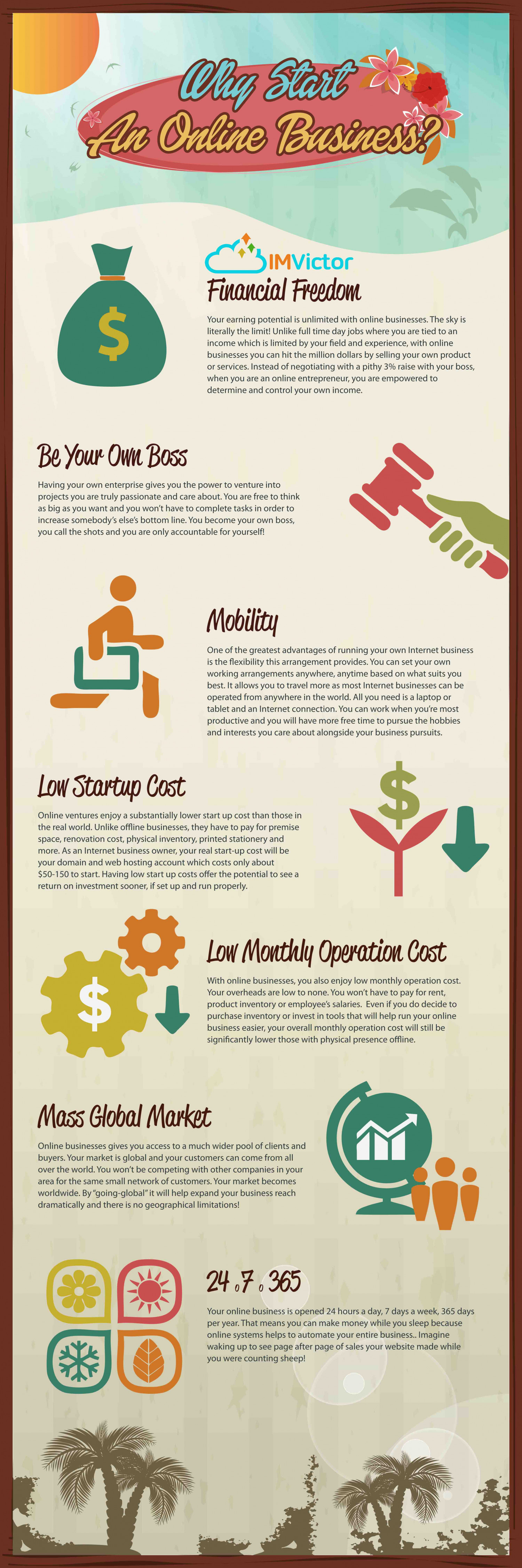 Why Start An Online Business? Infographic
