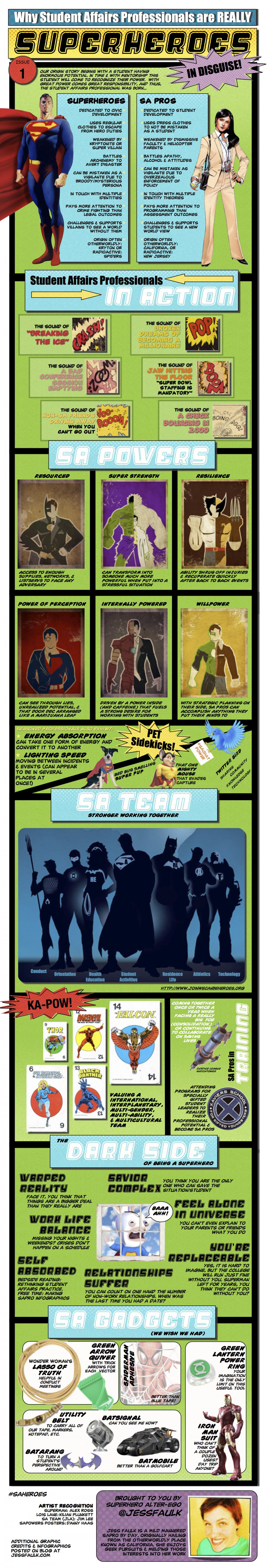 Why Student Affairs Professionals are REALLY Superheroes in Disguise Infographic