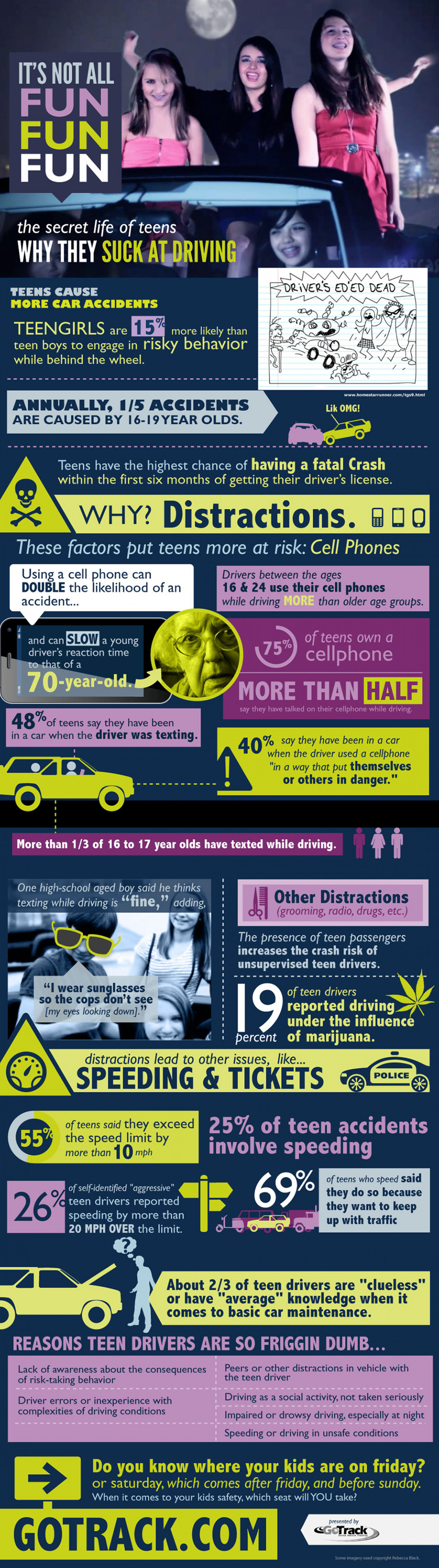Why Teens Suck At Driving Infographic