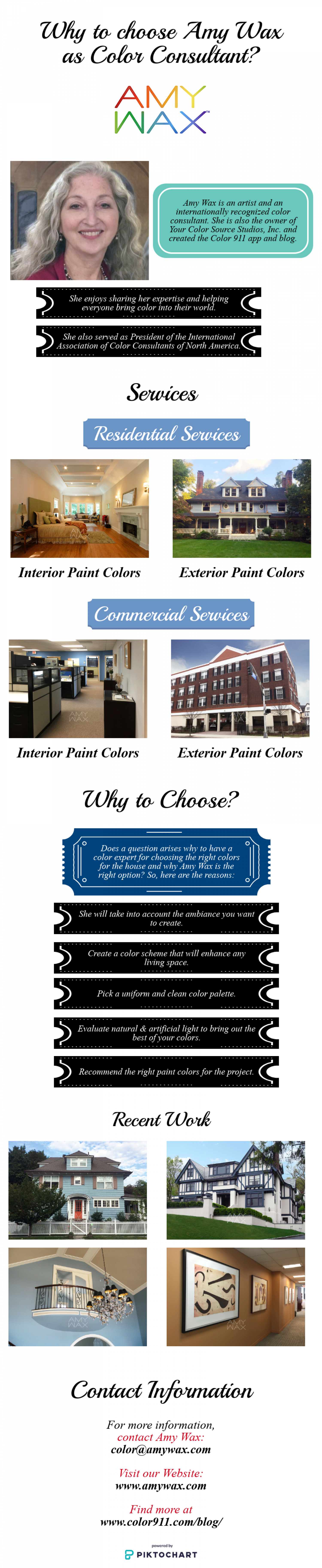 Why to choose Amy Wax as Color Consultant? Infographic