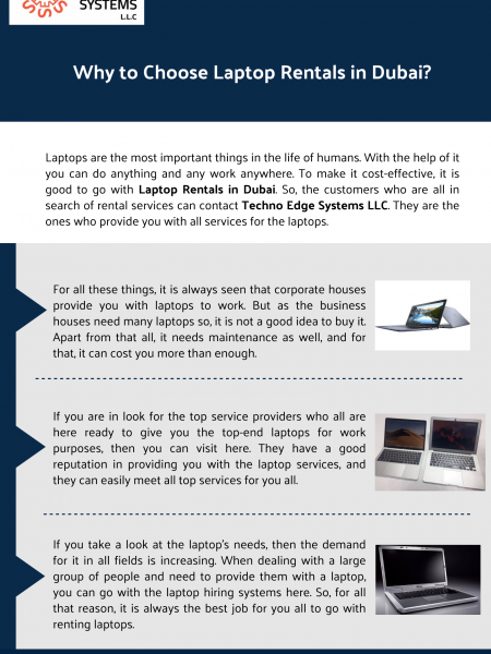 Why to Choose Laptop Rentals in Dubai? Infographic