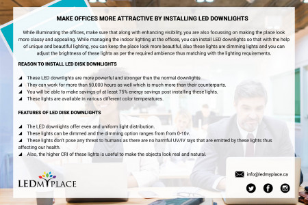 Why to Choose LED Downlight Fixture for Offices Infographic