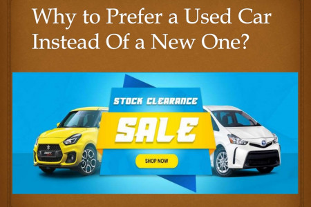 Why to Prefer a Used Car Instead Of a New One Infographic