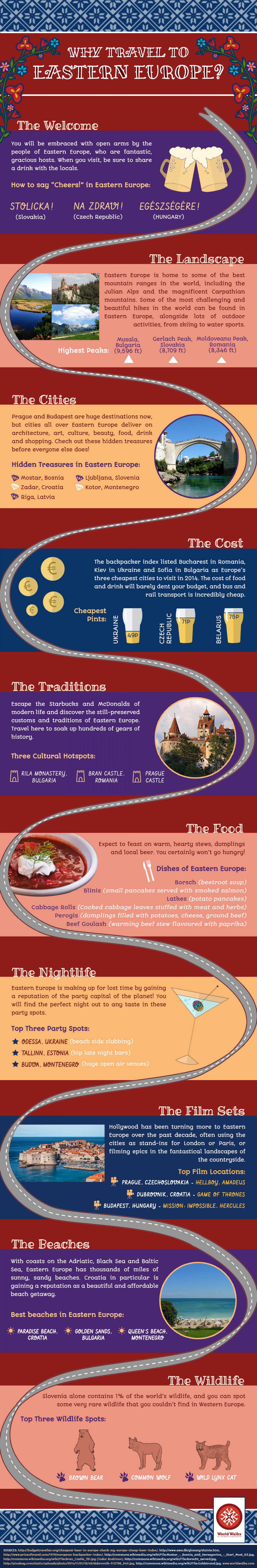 Why Travel to Eastern Europe? Infographic