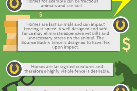 Why Use Bounce Back Horse Fencing For Your Stock Infographic