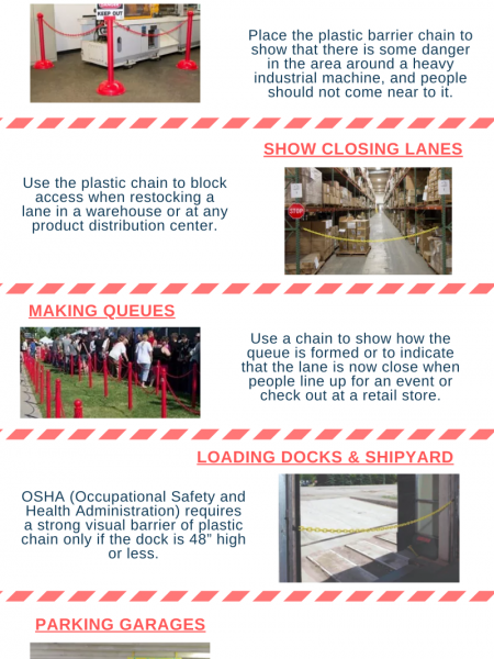 What Are The Uses Of Plastic Barrier Chain Infographic