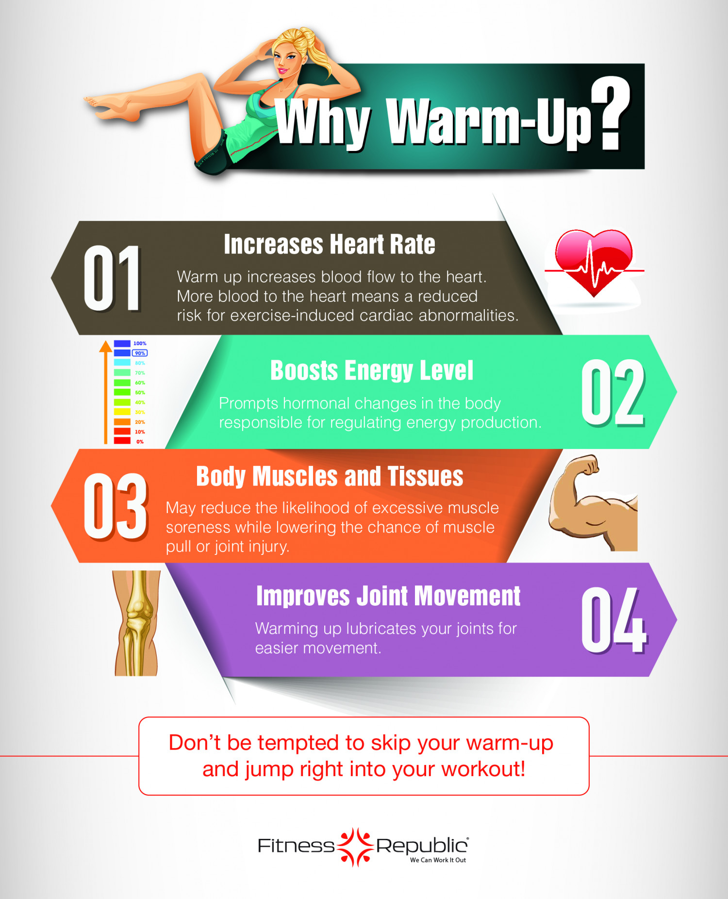 Why Warm Up? Infographic