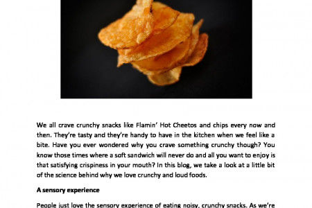 Why We Crave Crunchy Snacks Infographic