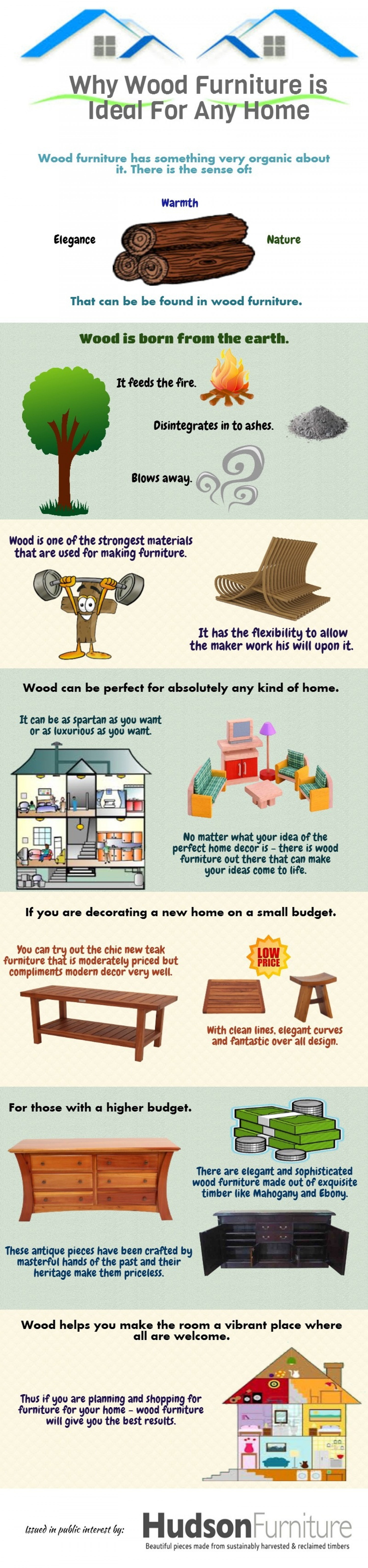 Why Wood Furniture is Ideal For Any Home Infographic