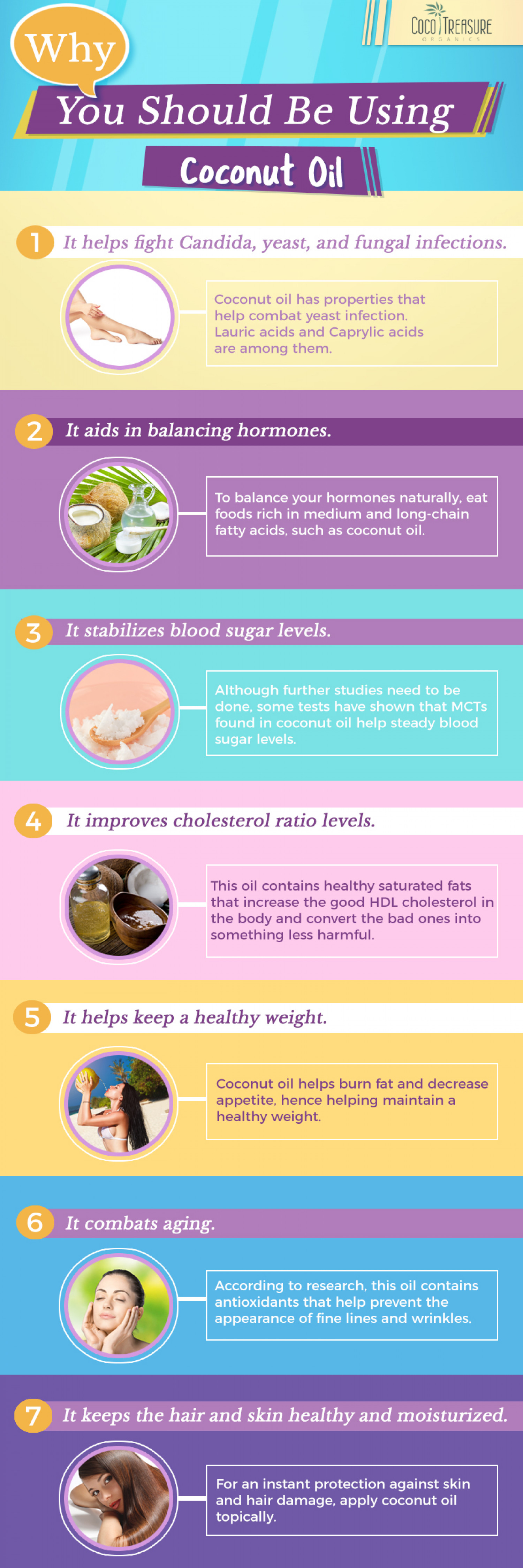 Why You Should Be Using Coconut Oil Infographic