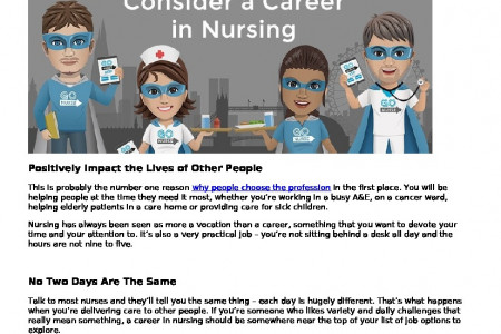 Why You Should Consider a Career in Nursing Infographic