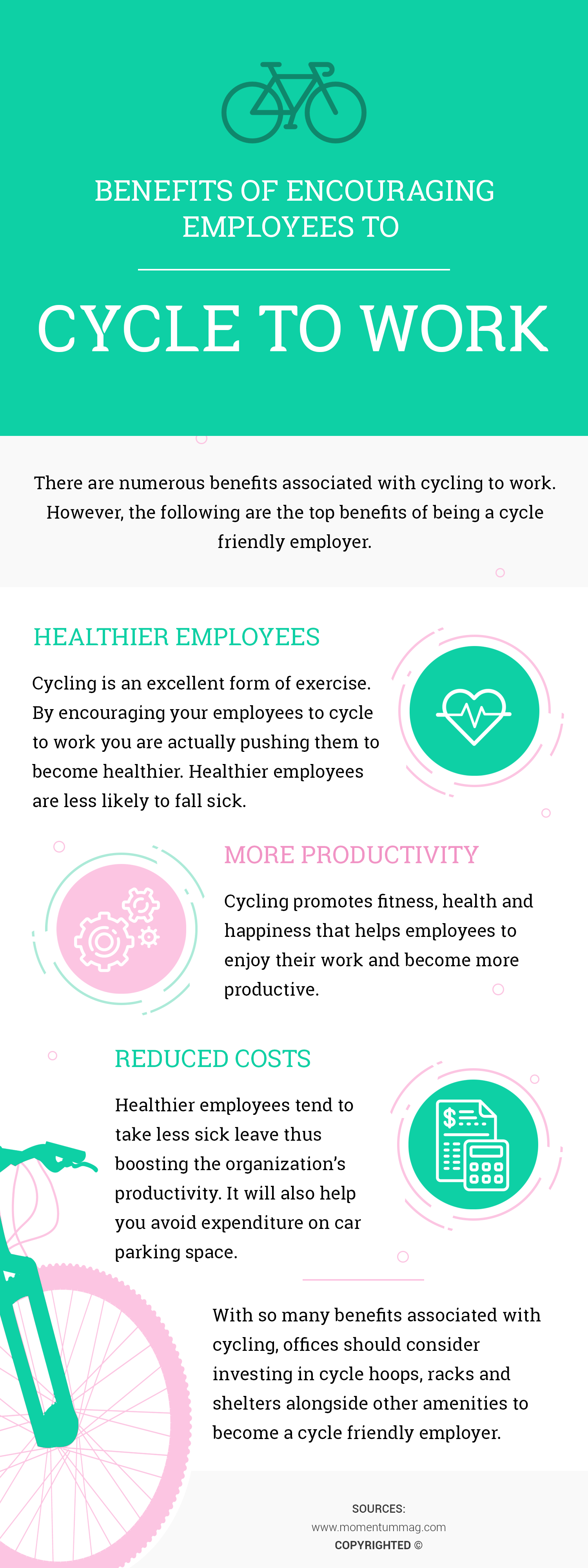 Why You Should Encourage Your Employees to Cycle to Work? Infographic