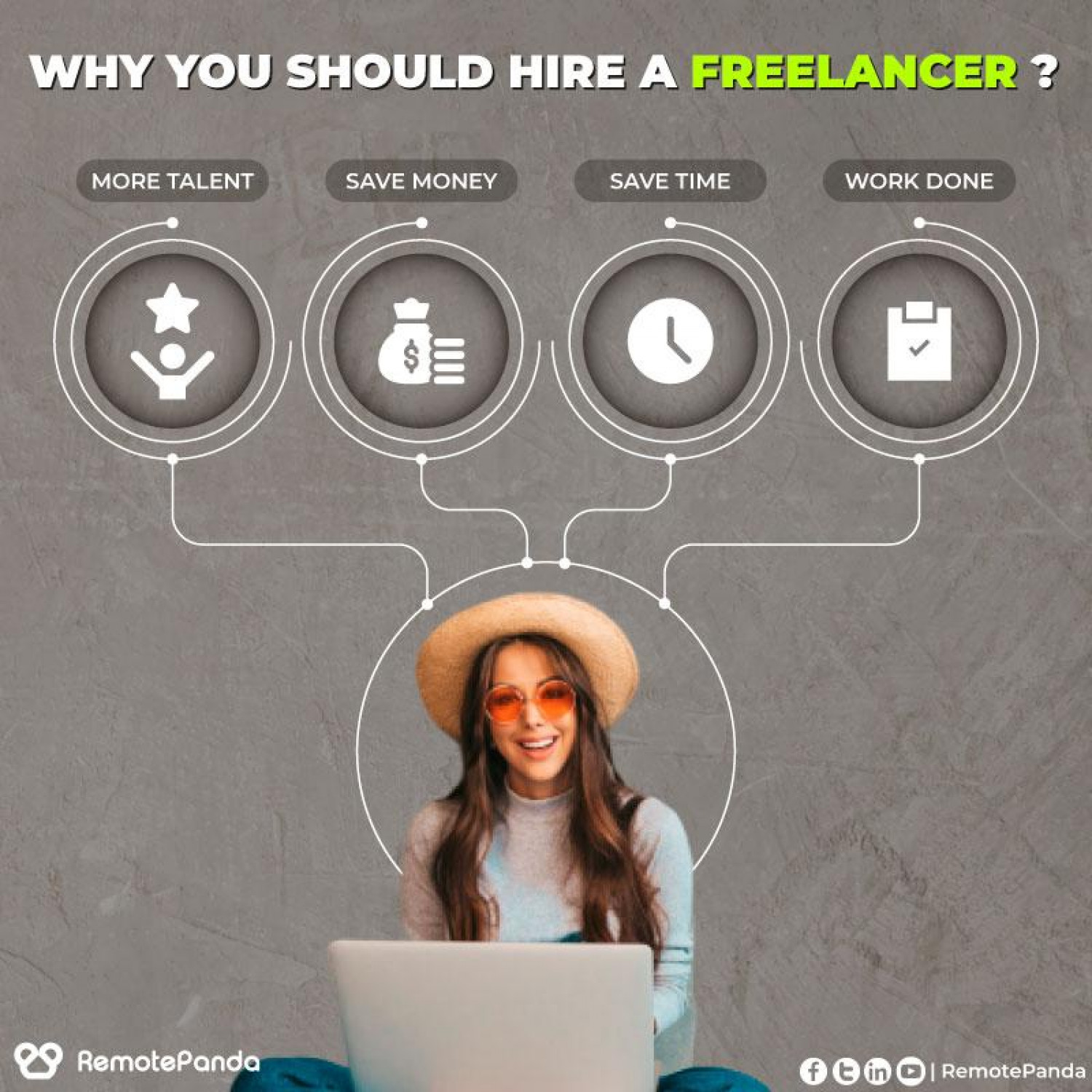 Why you should hire freelancer? Infographic