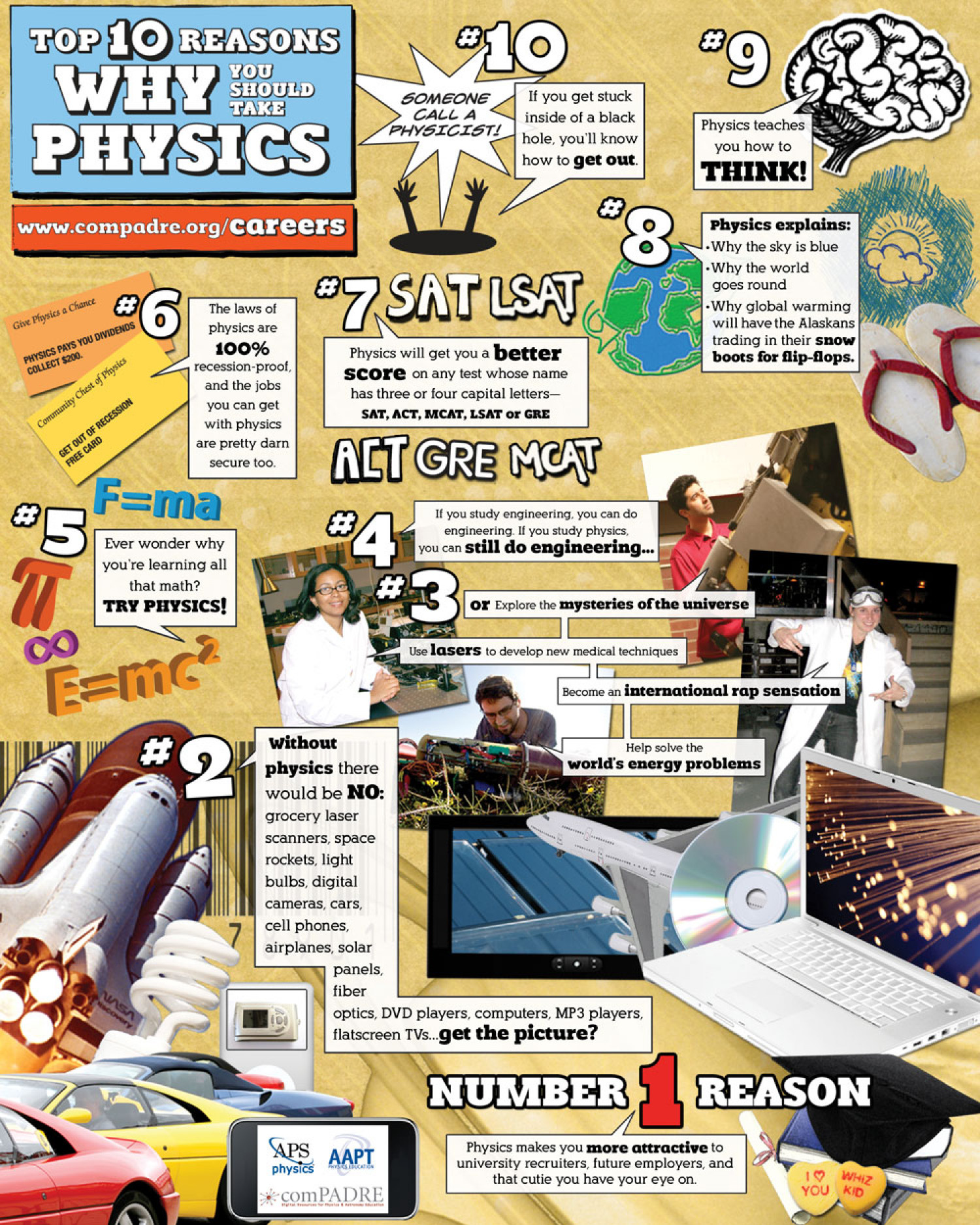 Why You Should Take Physics Infographic