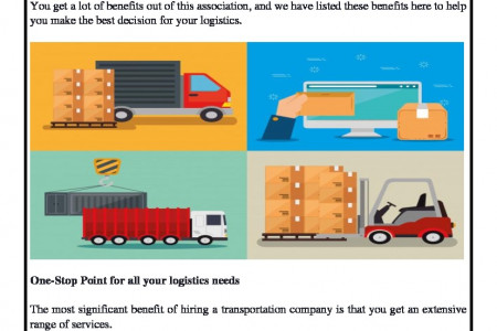 Why You Should Tie-Up With The Transportation Company For Your Logistics? Infographic