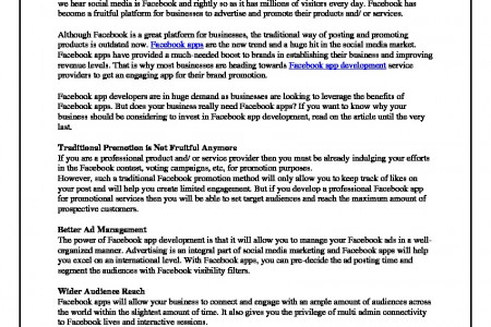 Why Your Business Needs to Invest in Facebook App Development- MildApp Infographic