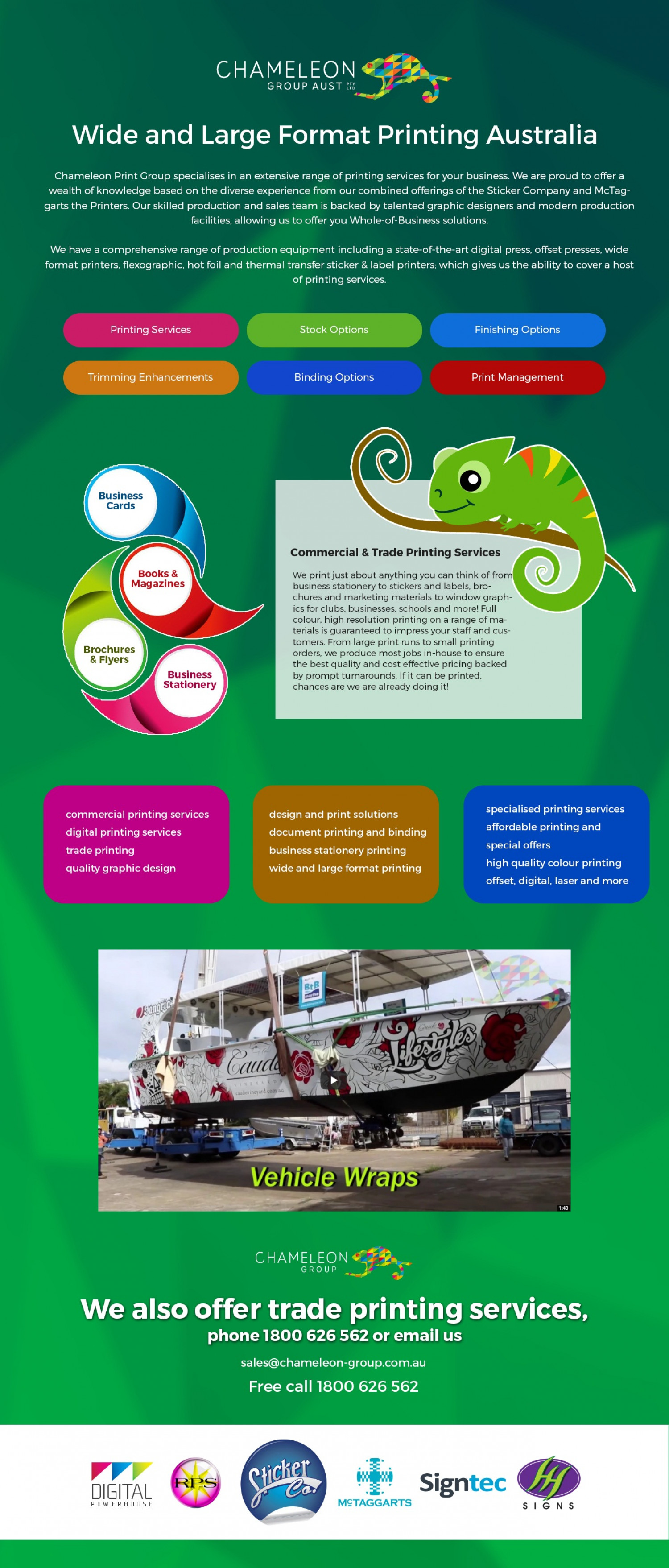 Wide and Large Format Printing Australia Infographic