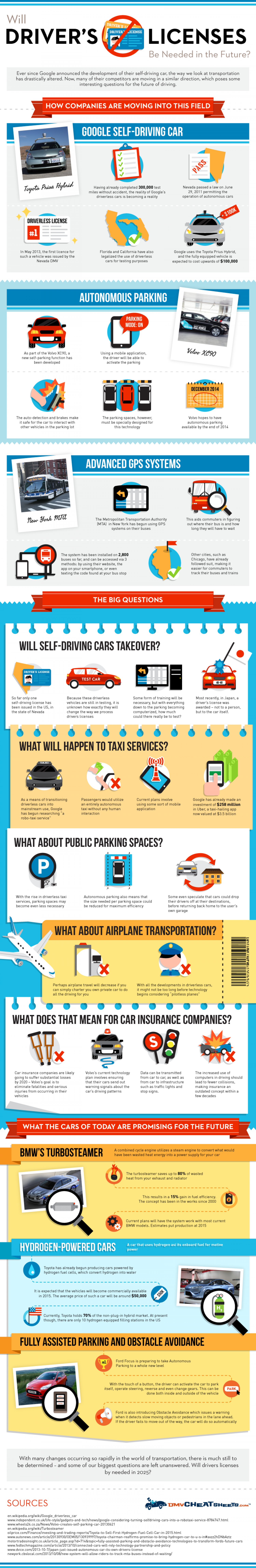 Will Drivers Licenses Be Needed In The Future Infographic