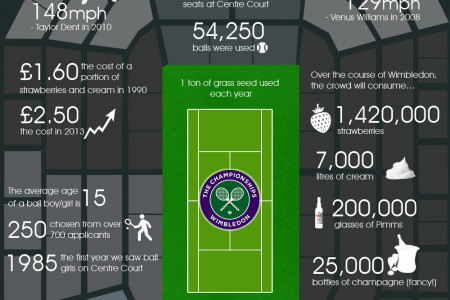 Wimbledon by numbers Infographic