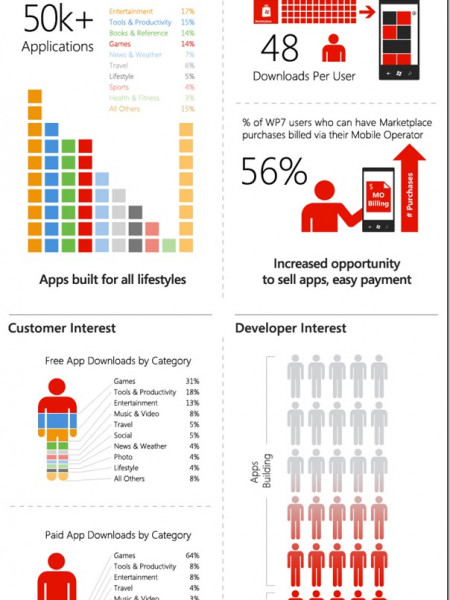 Windows Phone Year in Review Infographic